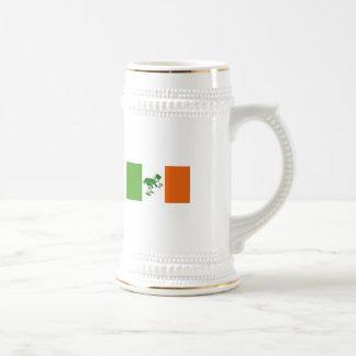Brinde irlandês/bandeira irlandesa+Leprechaun Caneca De Cerveja