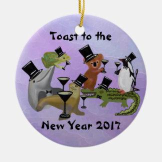 Brinde os ornamento do ano novo