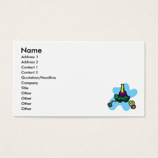 Brinquedo da pilha da tartaruga cartão de visitas