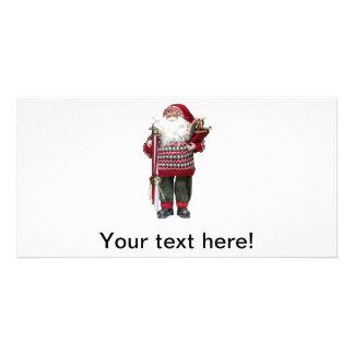Brinquedo de Papai Noel Cartoes Com Fotos Personalizados