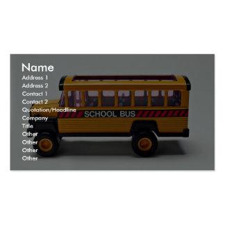Brinquedo do auto escolar para miúdos cartões de visitas