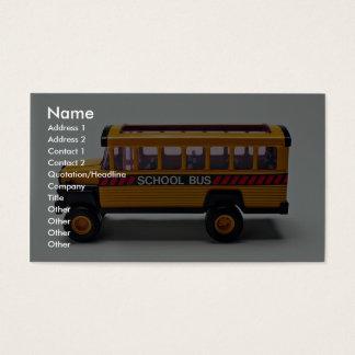 Brinquedo do auto escolar para miúdos cartão de visitas