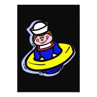 brinquedo do marinheiro convite 12.7 x 17.78cm