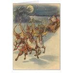 Brinquedos do trenó da rena de Papai Noel do natal Cartão