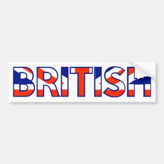 Britânico Adesivo Para Carro