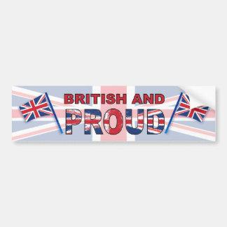 Britânico e orgulhoso adesivo