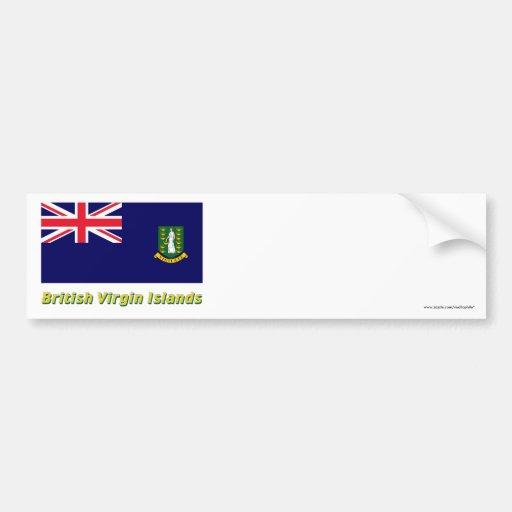 British Virgin Islands embandeiram com nome Adesivos