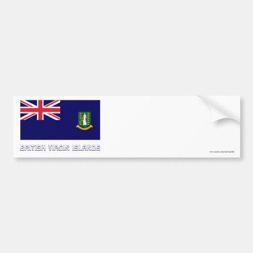 British Virgin Islands embandeiram com nome Adesivo