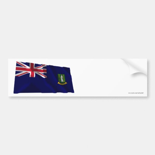 British Virgin Islands que acenam a bandeira Adesivos