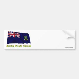 British Virgin Islands que acenam a bandeira com n Adesivo
