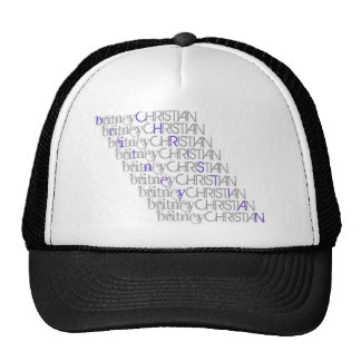 Britney Christian Name Hat