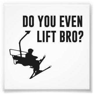 Bro, faz você mesmo elevador de esqui? impressão de foto