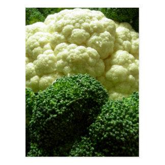 Brócolos & couve-flor cartão postal