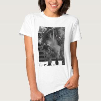 Bronco do rodeio t-shirts
