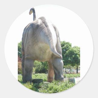 Brontosaurus do dinossauro adesivos redondos