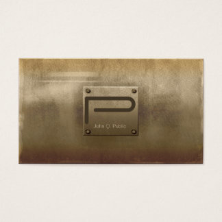 Bronze áspero da placa de metal cartão de visitas