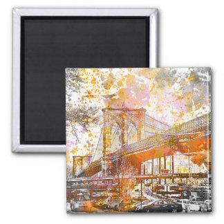 Brooklyn Bridge.jpg Ímã Quadrado