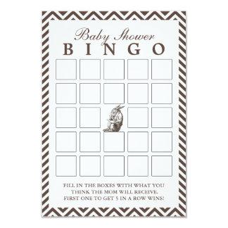 Brown Chevron listra cartões do Bingo do chá de Convite 8.89 X 12.7cm