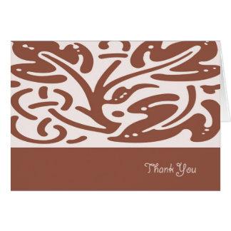 Brown deixa cartões de agradecimentos