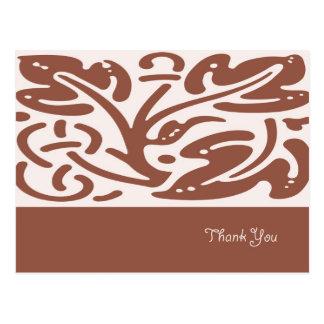 Brown deixa cartões de agradecimentos cartão postal
