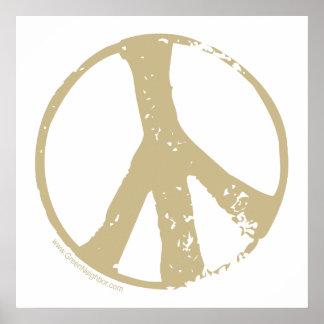 Brown desvaneceu-se, sinal de paz do estilo do Gru Poster