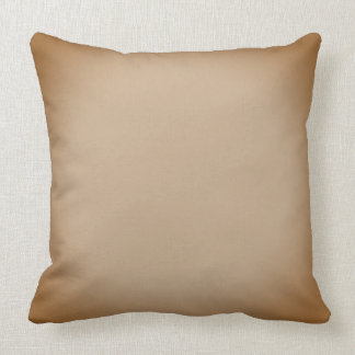 Brown desvanecido e travesseiro decorativo bege almofada