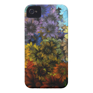 Brown e azul capa para iPhone 4 Case-Mate