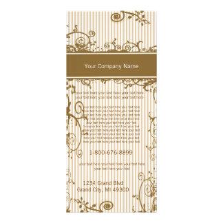 Brown e cartão listrado rodado branco da 10.16 x 22.86cm panfleto