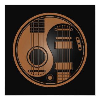 Brown e guitarra elétricas acústicas Yin Yang do Convite Quadrado 13.35 X 13.35cm