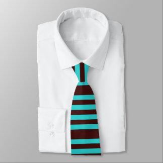Brown e laço listrado aqua gravata