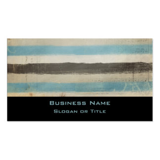Brown e listras horizontais azuis na aguarela cartão de visita