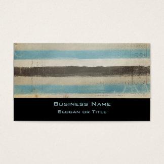 Brown e listras horizontais azuis na aguarela cartão de visitas