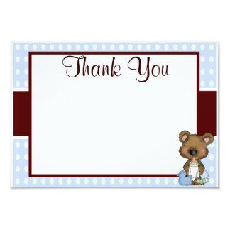 Brown e obrigado que azul do chá de fraldas do convite 8.89 x 12.7cm