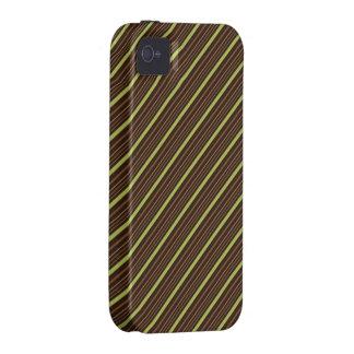 Brown e verde capa para iPhone 4/4S