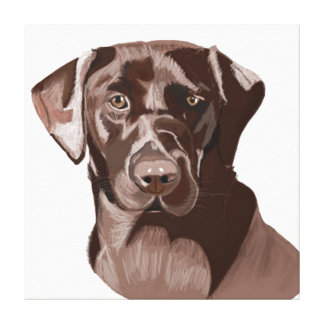 Brown Labrador Impressão Em Canvas