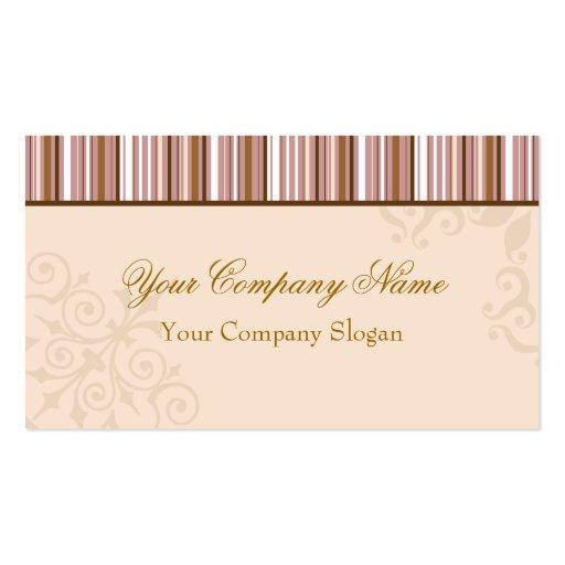 Brown listra o design elegante cartões de visitas