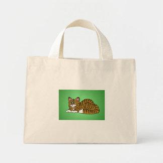 Brown listrou o gatinho dos desenhos animados com sacola tote mini