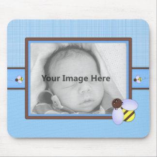 Brown modelo azul do bebé mouse pads