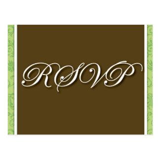 Brown que Wedding o cartão de RSVP Cartão Postal