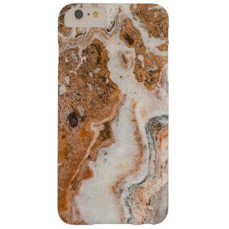 Brown & redemoinhos de mármore brancos capas iPhone 6 plus barely there