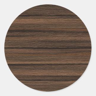 Brown resistiu à textura de madeira da parede adesivo