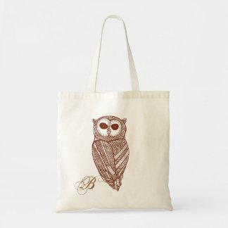Brown tonifica o a lápis coruja do desenho bolsa para compra
