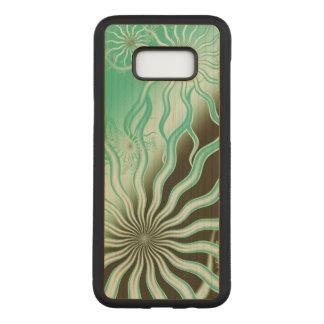 Brown verde enevoado irradia a capa de telefone