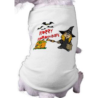 Bruxa bonito do Dia das Bruxas Camisetas Para Caes