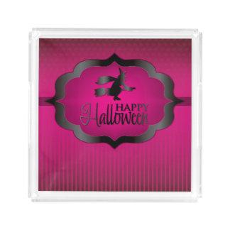 Bruxa cor-de-rosa do Dia das Bruxas