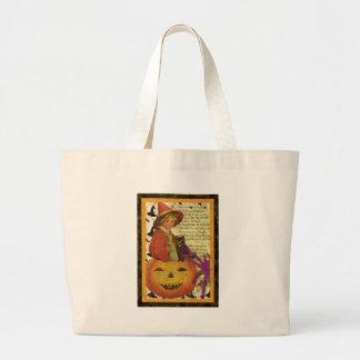 bruxa-criança sacola tote jumbo