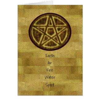 Bruxa Prim do Pagan do Pentacle Cartão Comemorativo