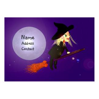 Bruxa sem fio do Dia das Bruxas - tamanho carnudo Cartão De Visita Grande