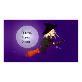 Bruxa sem fio do Dia das Bruxas - tamanho do Cartão De Visita
