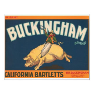 Buckingham Convite 10.79 X 13.97cm